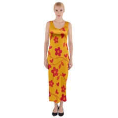 Floral pattern Fitted Maxi Dress