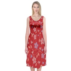 Floral pattern Midi Sleeveless Dress