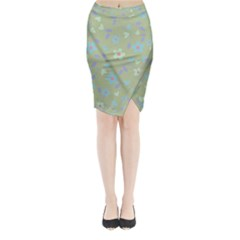 Floral pattern Midi Wrap Pencil Skirt