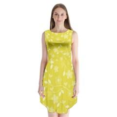 Floral pattern Sleeveless Chiffon Dress