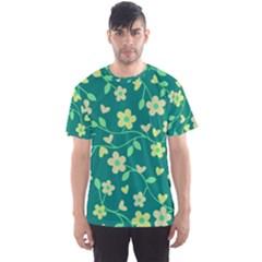 Floral pattern Men s Sport Mesh Tee