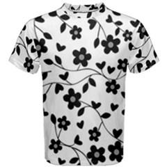 Floral pattern Men s Cotton Tee