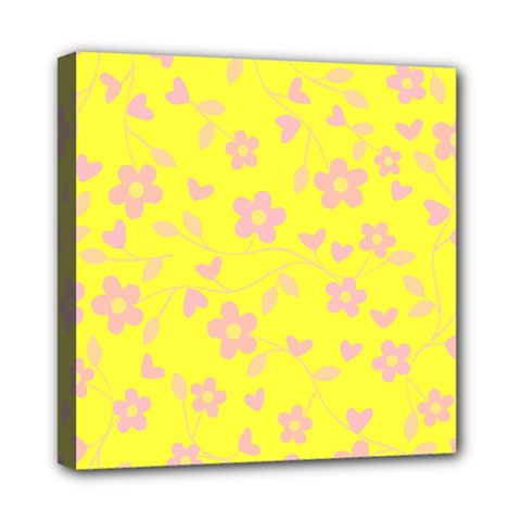 Floral pattern Mini Canvas 8  x 8