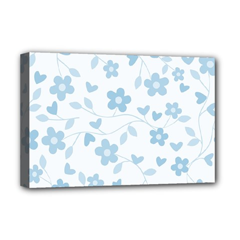 Floral pattern Deluxe Canvas 18  x 12