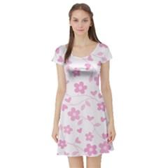 Floral pattern Short Sleeve Skater Dress