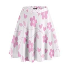 Floral pattern High Waist Skirt