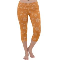 Floral pattern Capri Yoga Leggings