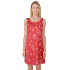 Floral pattern Sleeveless Satin Nightdress