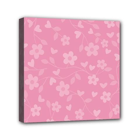 Floral pattern Mini Canvas 6  x 6
