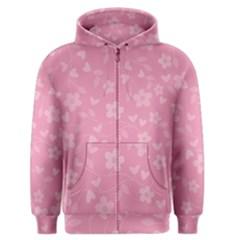 Floral pattern Men s Zipper Hoodie