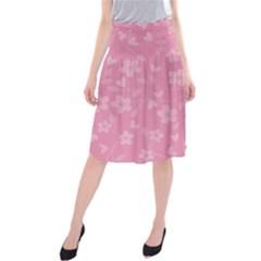 Floral pattern Midi Beach Skirt