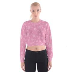 Floral pattern Women s Cropped Sweatshirt