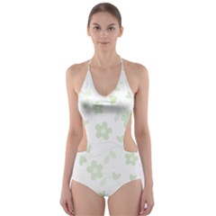 Floral pattern Cut-Out One Piece Swimsuit