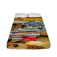 Engabao Beach At Guayas District Ecuador Fitted Sheet (Full/ Double Size)