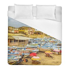 Engabao Beach At Guayas District Ecuador Duvet Cover (Full/ Double Size)