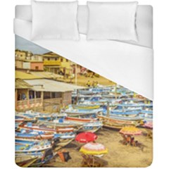 Engabao Beach At Guayas District Ecuador Duvet Cover (California King Size)
