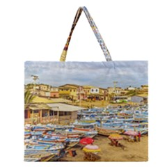 Engabao Beach At Guayas District Ecuador Zipper Large Tote Bag