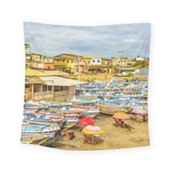 Engabao Beach At Guayas District Ecuador Square Tapestry (Small)