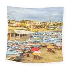 Engabao Beach At Guayas District Ecuador Square Tapestry (large)