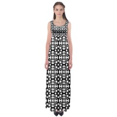 Pattern Empire Waist Maxi Dress