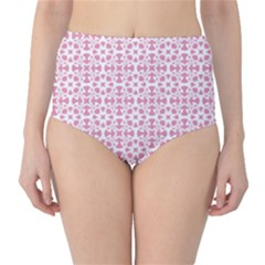 Pattern High Waist Bikini Bottoms