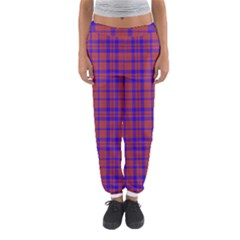 Pattern Plaid Geometric Red Blue Women s Jogger Sweatpants