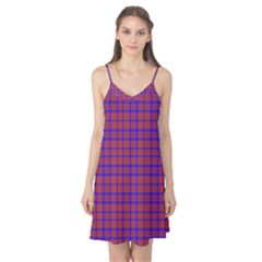 Pattern Plaid Geometric Red Blue Camis Nightgown