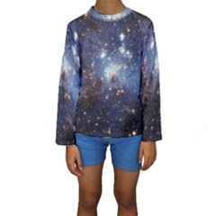 Large Magellanic Cloud Kids  Long Sleeve Swimwear