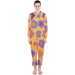 Floral pattern Hooded Jumpsuit (Ladies)