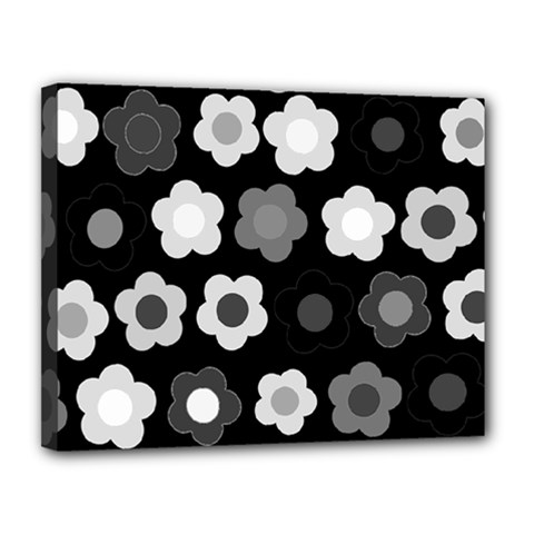 Floral pattern Canvas 14  x 11