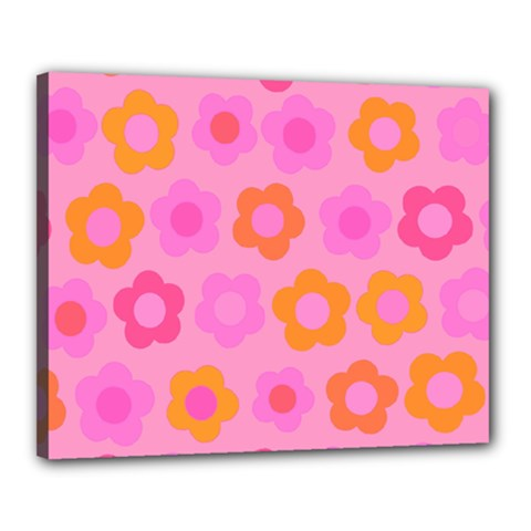 Pink floral pattern Canvas 20  x 16