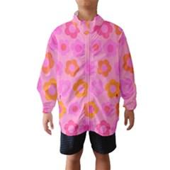 Pink floral pattern Wind Breaker (Kids)