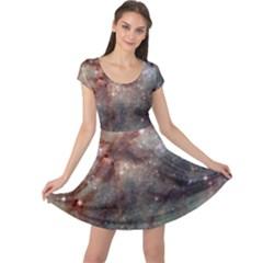 Tarantula Nebula Cap Sleeve Dresses