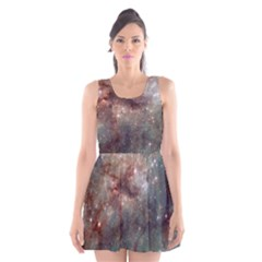 Tarantula Nebula Scoop Neck Skater Dress