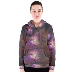Orion Nebula Women s Zipper Hoodie
