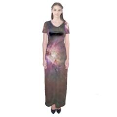 Orion Nebula Short Sleeve Maxi Dress