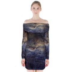 Propeller Nebula Long Sleeve Off Shoulder Dress
