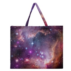 Small Magellanic Cloud Zipper Large Tote Bag