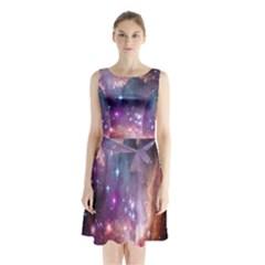 Small Magellanic Cloud Sleeveless Chiffon Waist Tie Dress