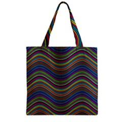 Pattern Zipper Grocery Tote Bag