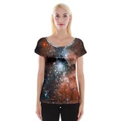 Star Cluster Women s Cap Sleeve Top