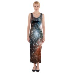 Star Cluster Fitted Maxi Dress