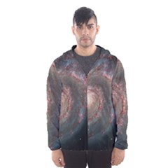 Whirlpool Galaxy And Companion Hooded Wind Breaker (men)