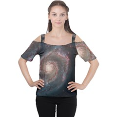 Whirlpool Galaxy And Companion Women s Cutout Shoulder Tee