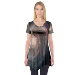 Whirlpool Galaxy And Companion Short Sleeve Tunic