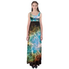 Crab Nebula Empire Waist Maxi Dress