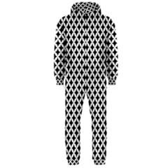 Pattern Hooded Jumpsuit (Men)
