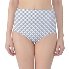 Pattern High-Waist Bikini Bottoms