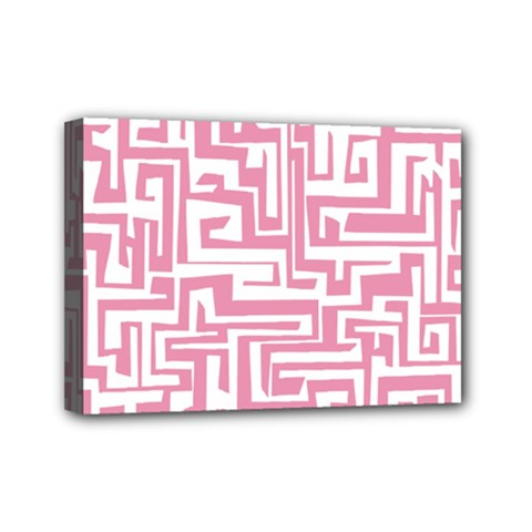 Pink pattern Mini Canvas 7  x 5
