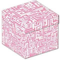 Pink pattern Storage Stool 12